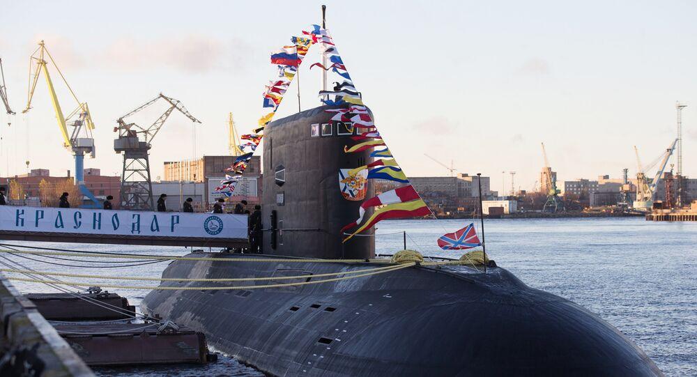 Submarino russo Krasnodar da classe Varshavyanka