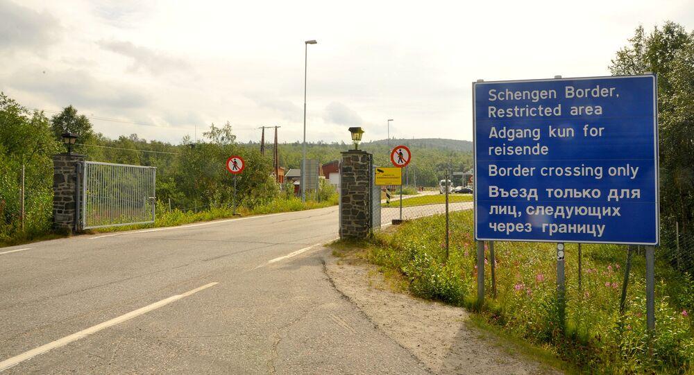 Fronteira entre a Rússia e a Noruega em Kirkenes, no norte do território norueguês