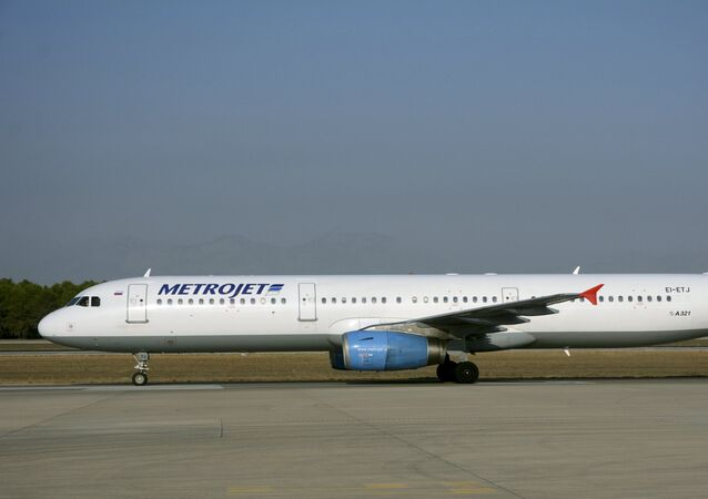 Airbus A321 da companhia russa Kogalymavia (Metrojet) que caiu na Península do Sinai