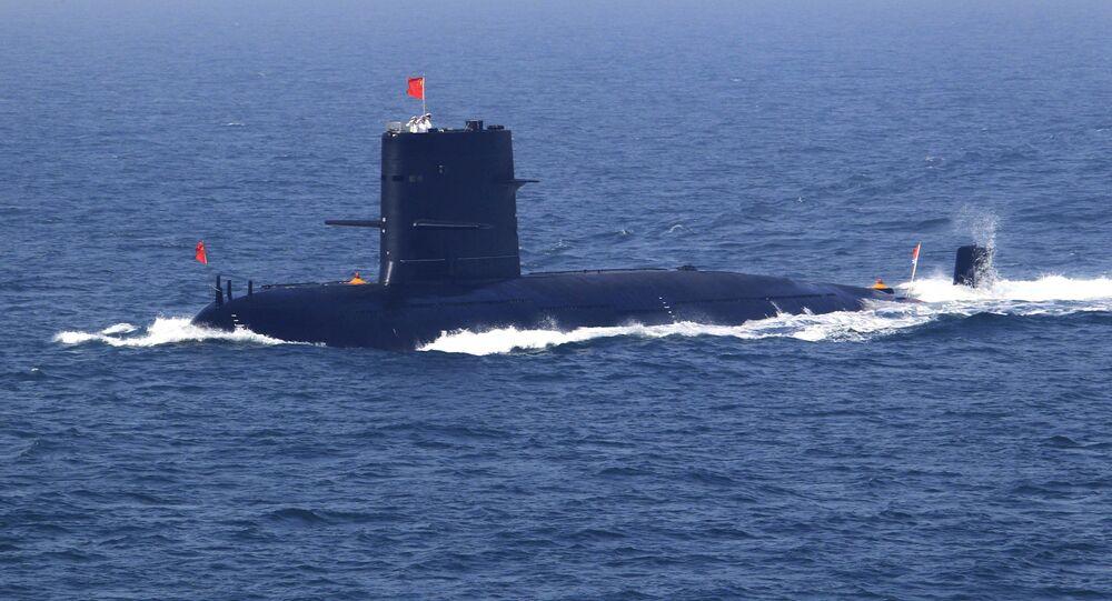 Submarino da Marinha da China durante missão (imagem referencial)