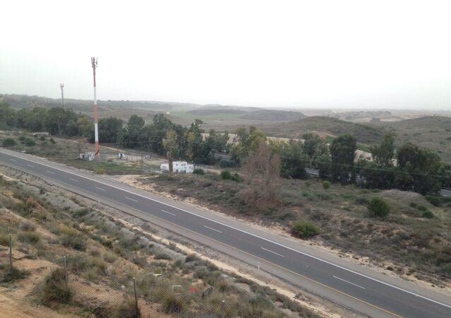 Vista da Faixa de Gaza a partir da cidade israelense de Sderot (arquivo)