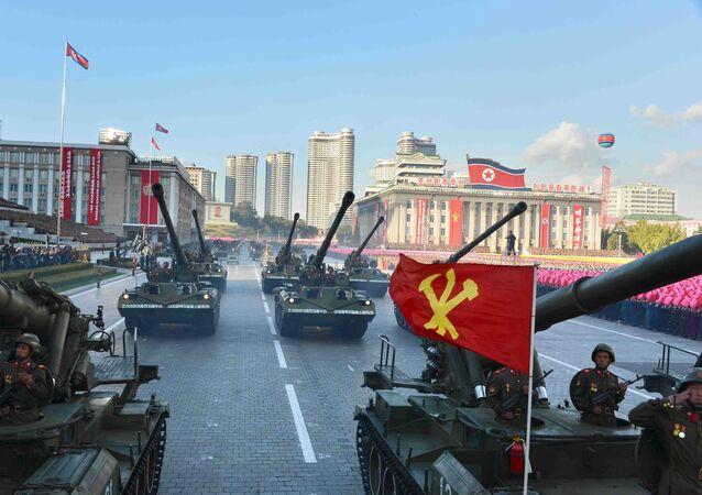 Desfile militar em Pyongyang
