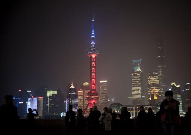 Torre de televisão Joia do Oriente em Xangai