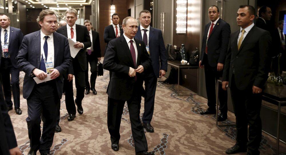 Presidente russo Vladimir Putin na cúpula G20 na Turquia