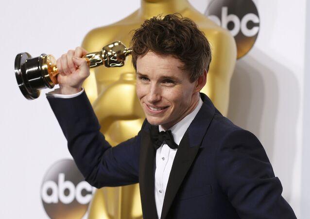 Eddie Redmayne, vencedor do Oscar de melhor ator
