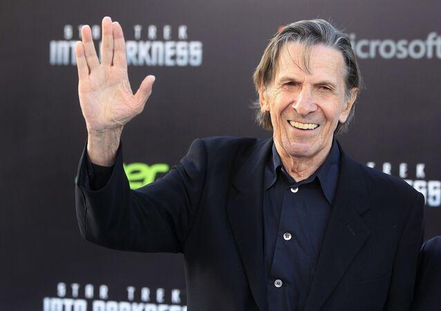 Leonard Nimoy, conhecido como Spock da série de filmes Jornada nas Estrelas