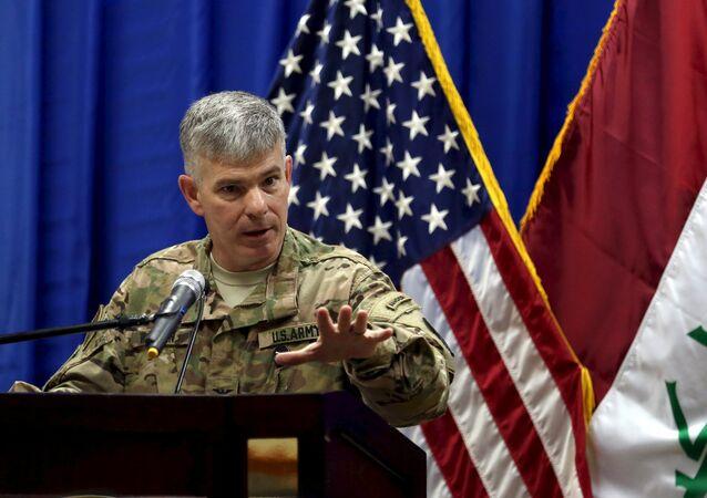 Coronel Steven Warren, porta-voz da coalizão antiterrorista liderada pelos EUA no Iraque