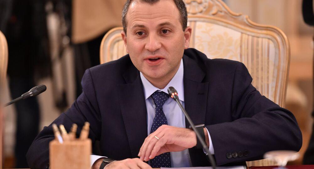 Gebran Bassil, ministro das Relações Exteriores do Líbano