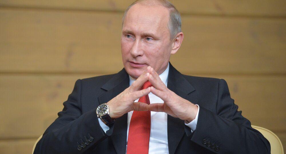 Presidente russo Vladimir Putin participou do Clube de Valdai de Discussões Internacionais, 22 de outubro de 2015