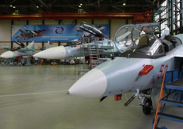 Montadora de aviões em Irkutsk.