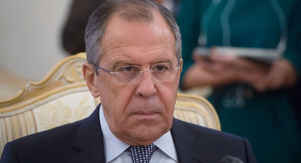 Ministro das Relações Exteriores russo Sergei Lavrov