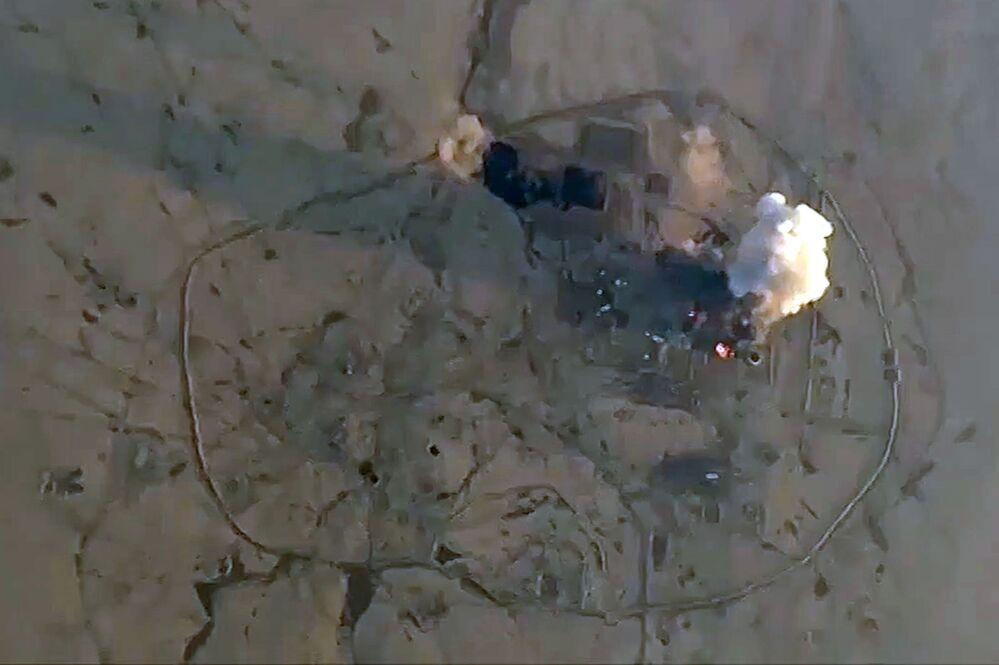 Alvo do EI é atingido pelas Forças Aeroespaciais da Rússia na Síria