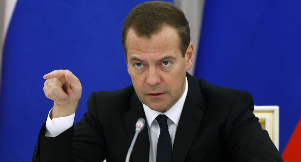 Primeiro-ministro russo, Dmitry Medvedev
