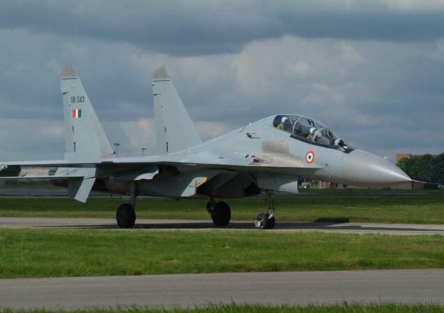Su-30MKI da Força Aérea da Índia.
