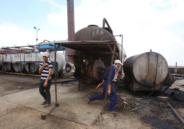 Campo petroleiro na Síria