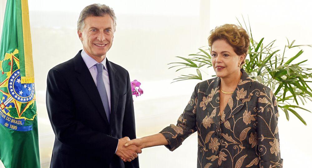 Presidentes de Argentina e Brasil, Mauricio Macri e Dilma Rousseff