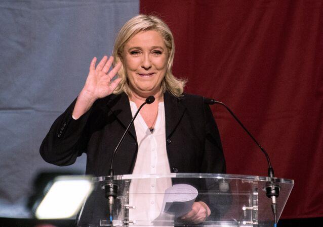 Marine Le Pen após anúncio dos resultados das eleições