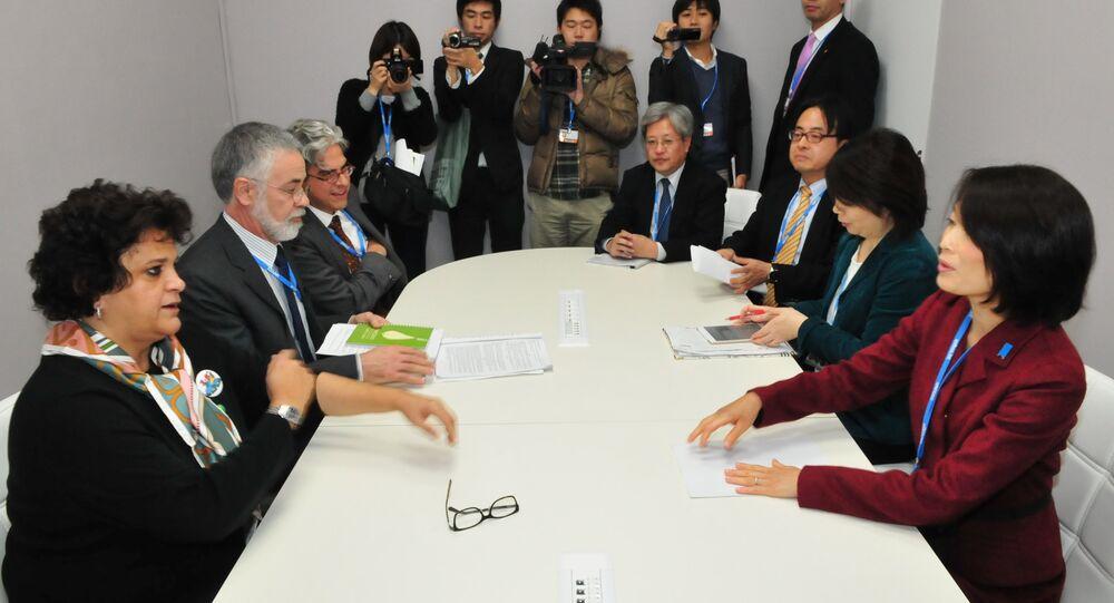 A ministra do Meio Ambiente, Izabella Teixeira, durante a Conferência do Clima em Paris - COP21