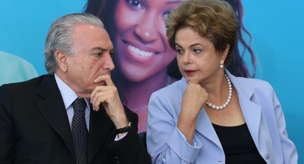 Vice-presidente do Brasil, Michel Temer, ao lado da Presidenta Dilma Rousseff