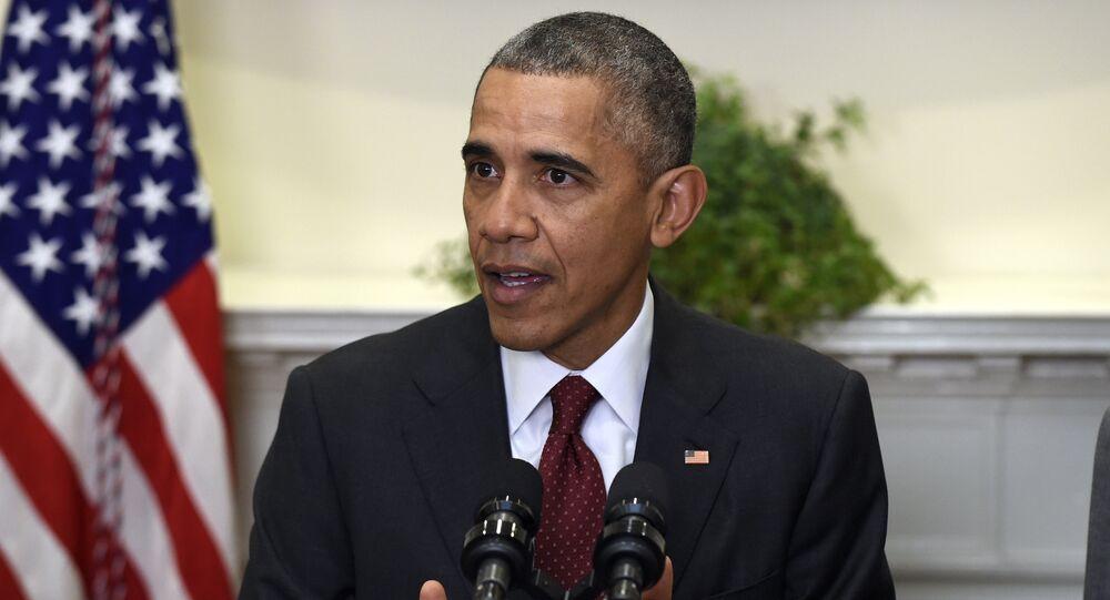 Barack Obama fala no Salão Roosevelt da Casa Branca