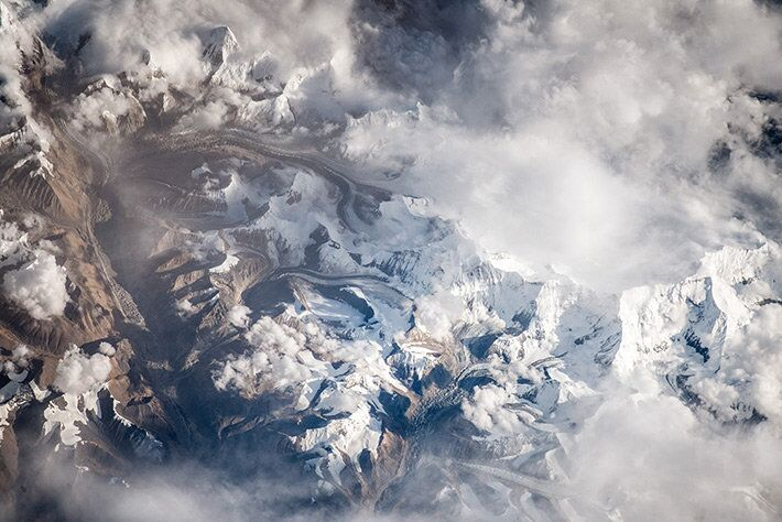 Monte Guia Chung Kang, na Cordilheira do Himalaia