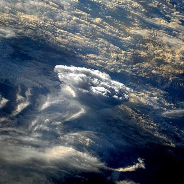 Nuvens sobre a Terra