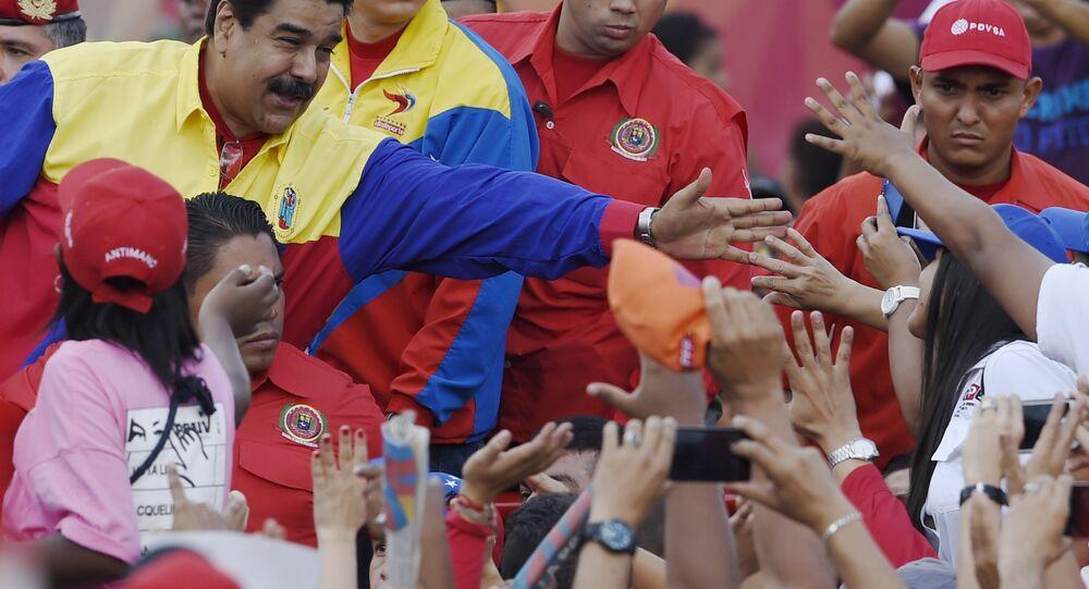 Nicolás Maduro em um evento na Venezuela
