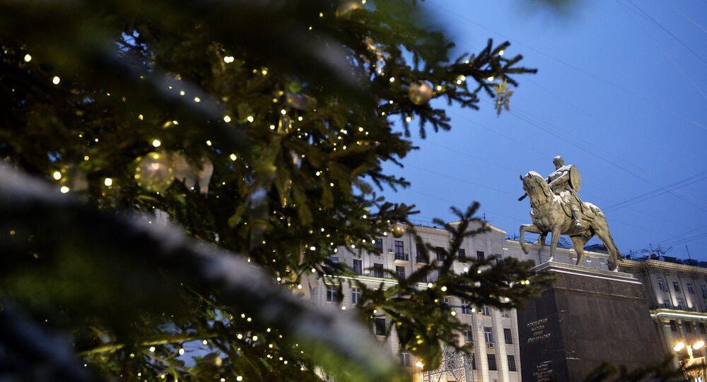 Árvore de Natal no centro de Moscou