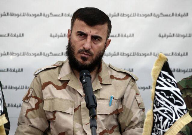 Zahran Alloush, líder do grupo terrorista Jaish al-Islam na Síria