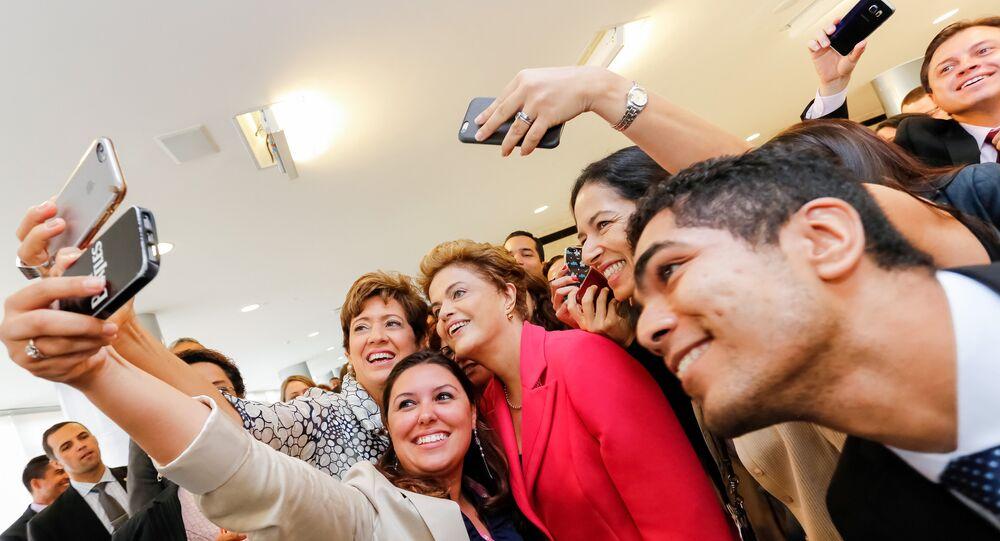 Presidenta Dilma Rousseff durante café da manhã com jornalistas-setoristas do Palácio do Planalto