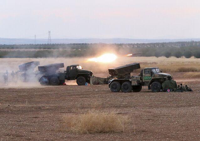 Lançadores Múltiplos de Foguetes do Exército sírio