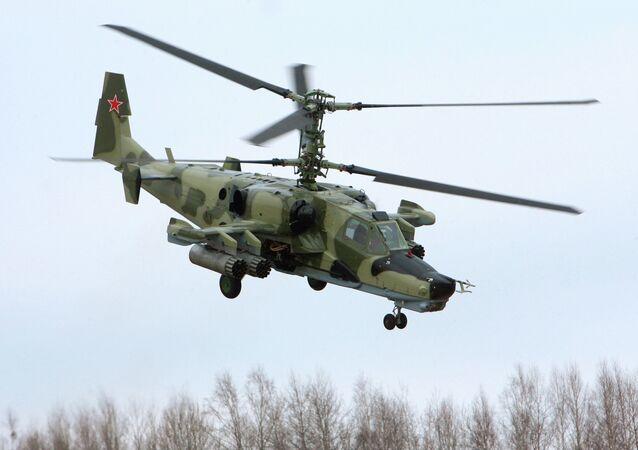 Helicóptero de assalto, Ka-50, foi batizado com um apelido óbvio de 'Tubarão Negro'