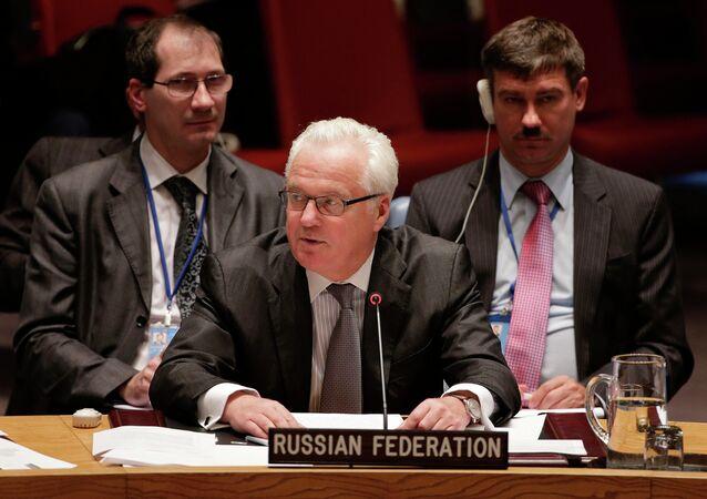 Representante permanente da Rússia na ONU, Vitaly Churkin
