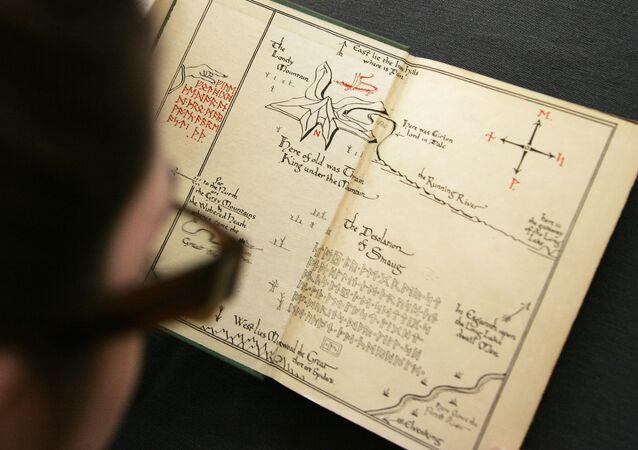 Mapa da Terra Média onde tiveram lugar os desenvolvimentos dos livros de J.R.R.Tolkien, O Hobbit e O Senhor dos Anéis