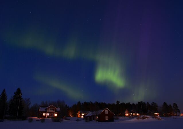 Aurora polar na Suécia