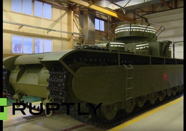 Rússia: engenheiros recriam o famoso tanque soviético T-35