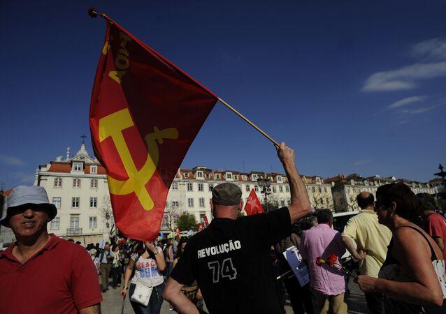 Manifestação comunista em Lisboa