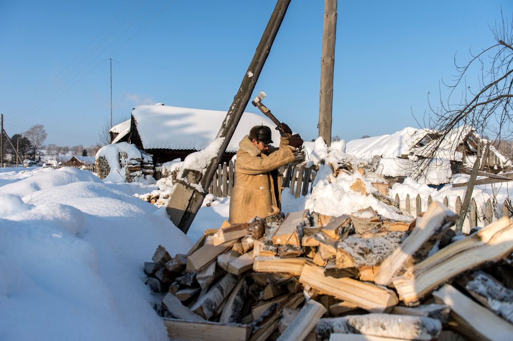 O verdadeiro inverno russo na Sibéria