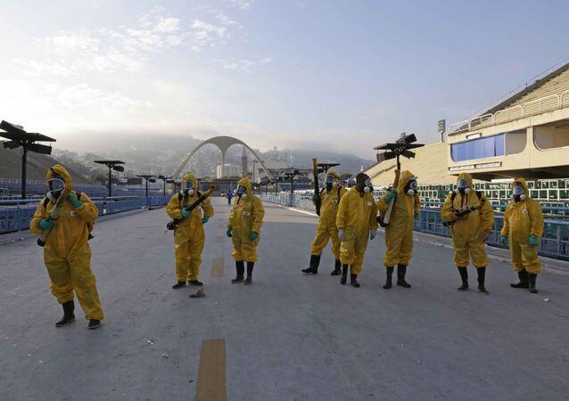 Ação contra o Aedes Aegypti no Sambódromo do Rio
