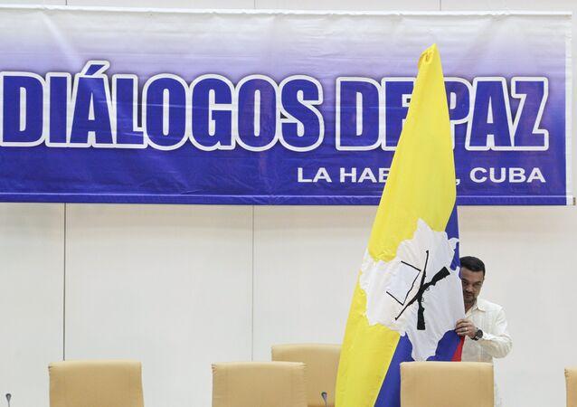 Local da reunião, em Havana, das conversações de paz na Colômbia