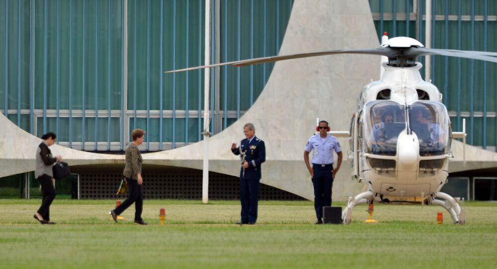 Dilma Rousseff a caminho do Equador