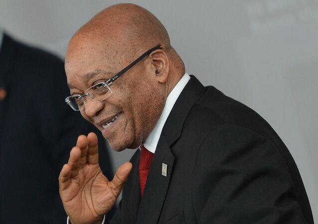 O presidente da África do Sul, Jacob Zuma, durante um encontro no âmbito da cúpula dos BRICS, em Ufá, em julho de 2015