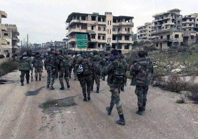 Militares sírios na província de Latakia (foto do arquivo)