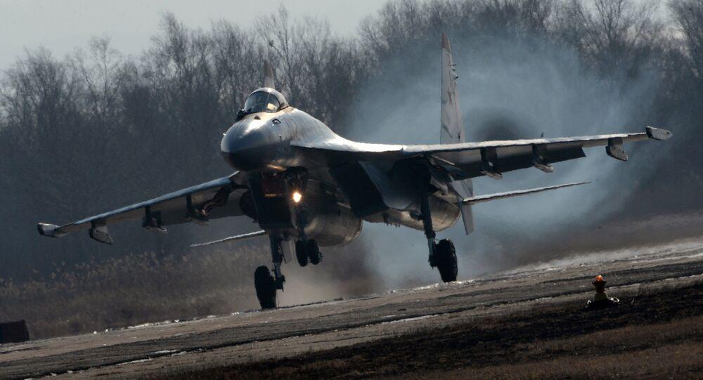 Caça polivalente russo Su-35S