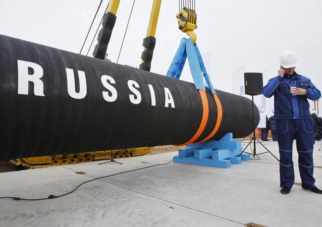 Cerimônia de inauguração da construção do gasoduto Nord Stream (foto de arquivo)