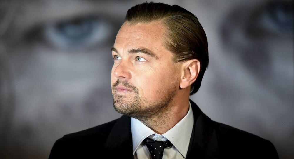 Ator Leonardo DiCaprio chega para a estreia britânica de The Revenant, em Londres, Grã-Bretanha 14 de janeiro de 2016