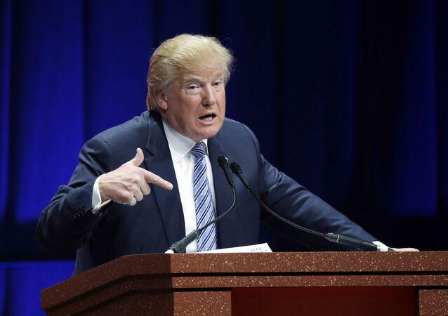 Donald Trump, candidato republicano à presidência dos EUA