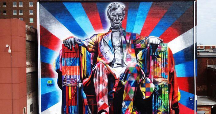 Abraham Lincoln, por Eduardo Kobra, Lexington, estado de Kentucky, EUA