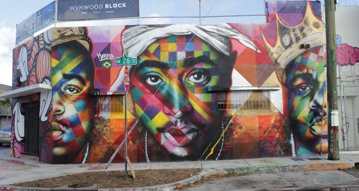 Tupac&Biggie, por Eduardo Kobra, Miami, estado de Florida, EUA