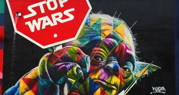 Stop Wars, por Eduardo Kobra, Miami, estado de Florida, EUA